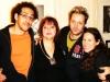 Avec mon ingénieur du son Anthony Arconte du Studio Any Music, Wenta et Barbara Scaff